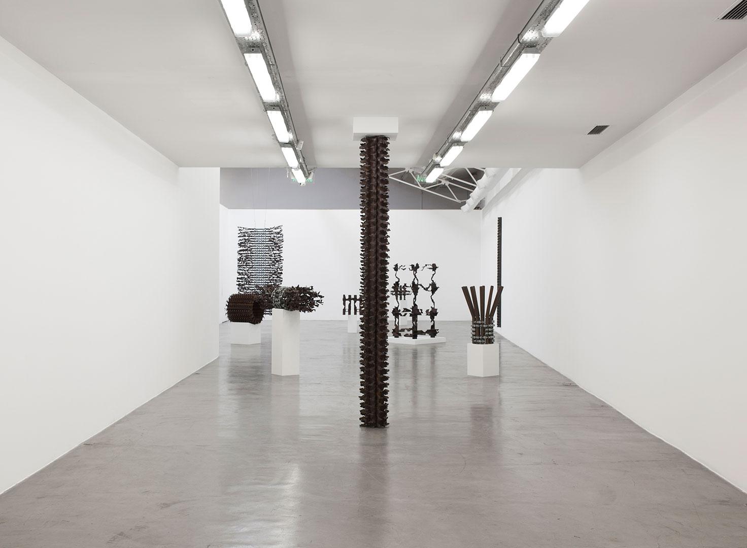 Puntal | 2018 | Iron pipes | 300 x 30 x 30 cm